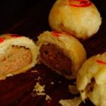 酥到掉渣的小鮮肉【蟹粉鮮肉月餅】(大包酥燙面法)