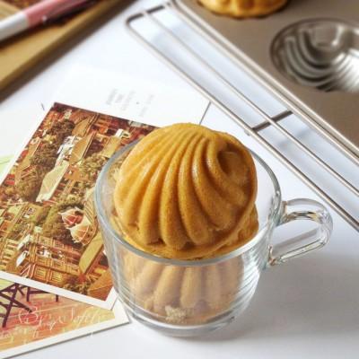 驱寒暖身的美味甜品/姜味红糖贝壳蛋糕