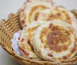 《主食°》五香红肠发面饼:早餐也可以做晚餐