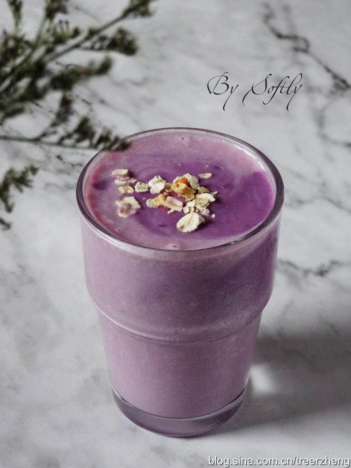 一杯颜色梦幻又能抗氧化的思慕雪/紫薯燕麦思慕雪