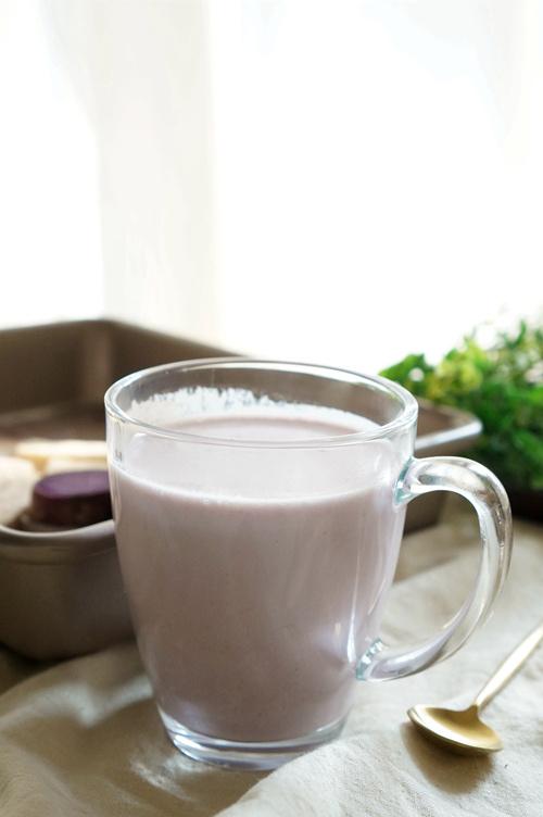 西屋破壁机食谱——紫薯芋头牛奶