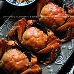 【清蒸河蟹】黄满膏肥,深秋的时令美味