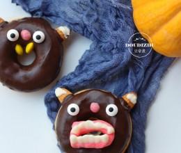 过万圣节准备美食,这样的甜甜圈你没有见过,朋友见了都舍不得吃