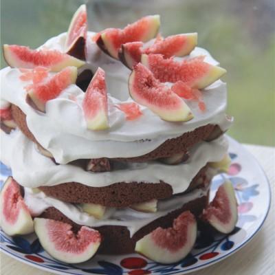 高颜值超过瘾的无花果可可裸蛋糕