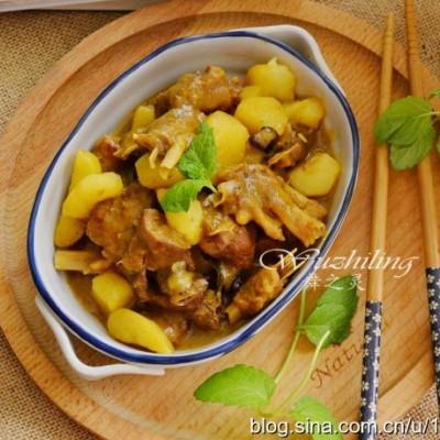 【咖喱土豆烧鸭肉】秋冬滋补首选这个菜,去燥不上火