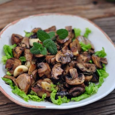低脂肪零负担,放心吃的【香草烤蘑菇】