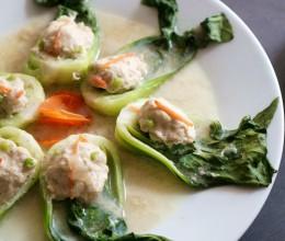 有个好听名字的金鱼酿青菜