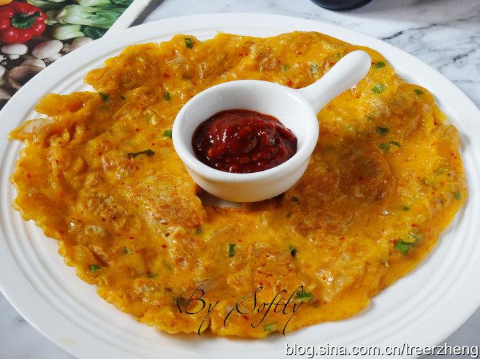 把泡菜饼做成这个样子吃起来格外香脆/韩式泡菜饼