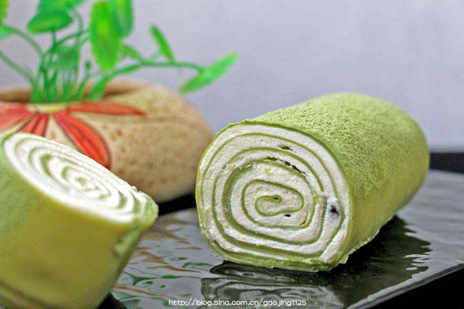 抹茶毛巾卷—给千层蛋糕巧妙的换了个造型