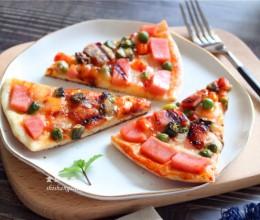 没有烤箱,一样能做出美味的披萨,食材随意添加,做法并不难!