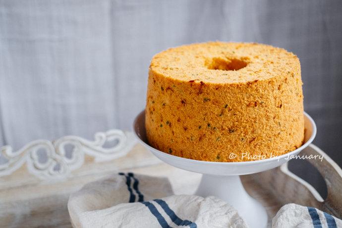 【香葱肉松戚风蛋糕】甜与咸的美味碰撞