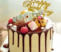 简单也是一种美——巧克力滴落蛋糕