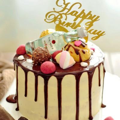 簡單也是一種美——巧克力滴落蛋糕
