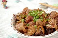 陈皮蘑菇蒸鸡