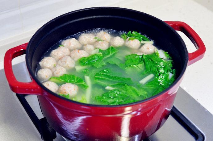 软嫩鲜香鱼丸汤,自制无添加