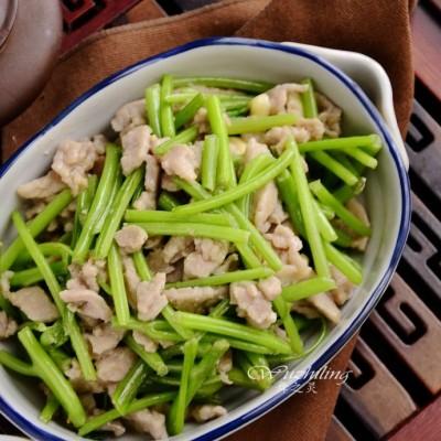 【地瓜梗炒肉】最健康的小炒,老少要多吃