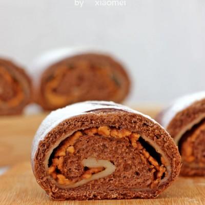 花生麻薯软欧—一款巨好吃的面包