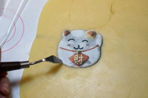 超可爱招财猫糖霜饼干,喵!