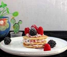 奶油水果松饼—几分钟就可以上桌的早餐