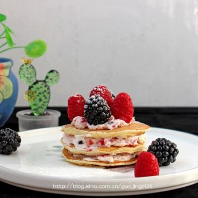 奶油水果松餅—幾分鐘就可以上桌的早餐