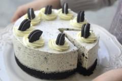 【奥利奥冻芝士蛋糕】拯救新手的免烤美味甜点