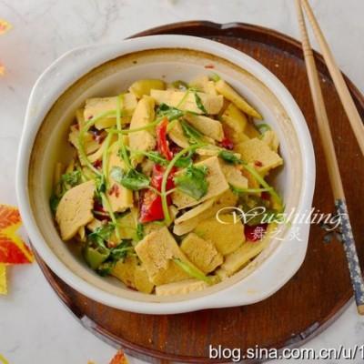 【干锅豆腐】下饭去油脂,女人吃多都不担心长胖