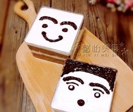 把蛋糕做成这样,还舍得吃吗----表情盒子蛋糕