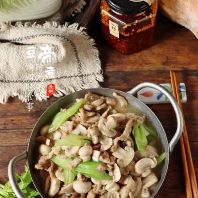营养美味超下饭的~口蘑炒肉丝