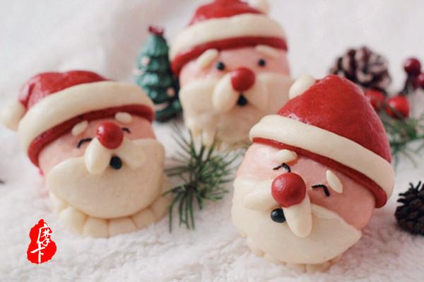 圣诞季滴中式点心~【圣诞老人馒头】