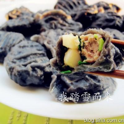冬至的墨鱼三鲜馅儿饺子