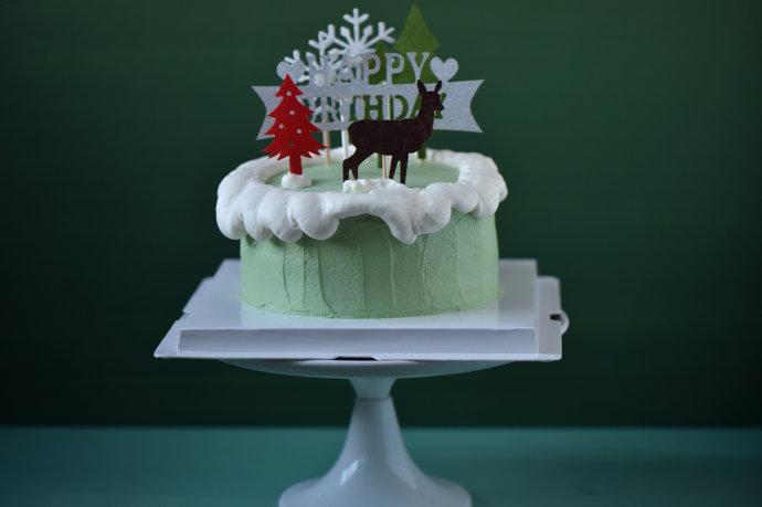 森系清新小麋鹿蛋糕陪你一起过圣诞