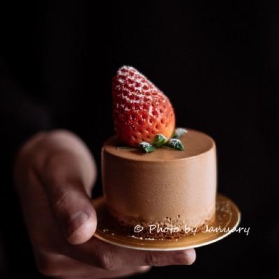 【黑巧克力慕斯】一人份美味甜点