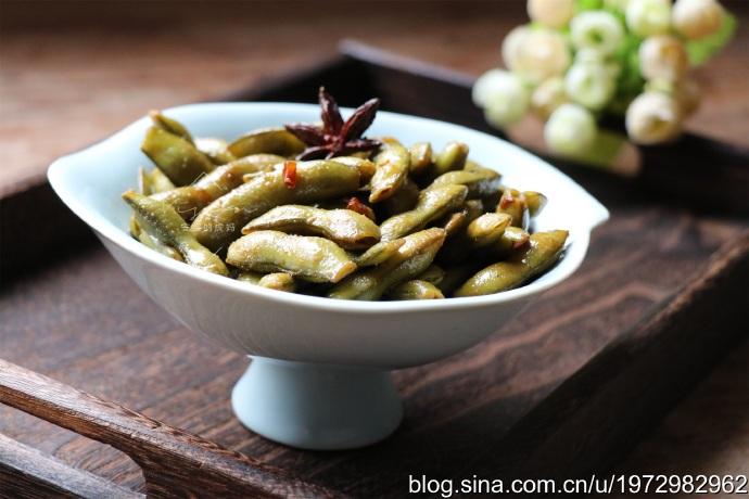 香辣开胃简单易做下酒菜五香毛豆