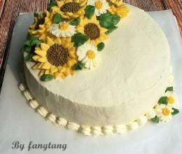 蛋糕可以这样做---向日葵裱花蛋糕