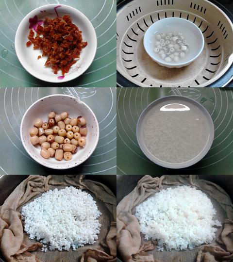 果干陈皮红糖八宝饭