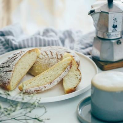 【早餐°】2019-3-20:法棍圓面包/卡布奇諾