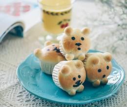【早餐°】2019-3-21:蜜红豆小熊杯面包/南瓜奶昔