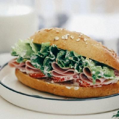 无糖蔓越莓燕麦全麦汉堡三明治面包