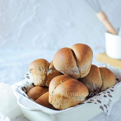 討巧可愛又補鈣的【黑芝麻果醬小面包】