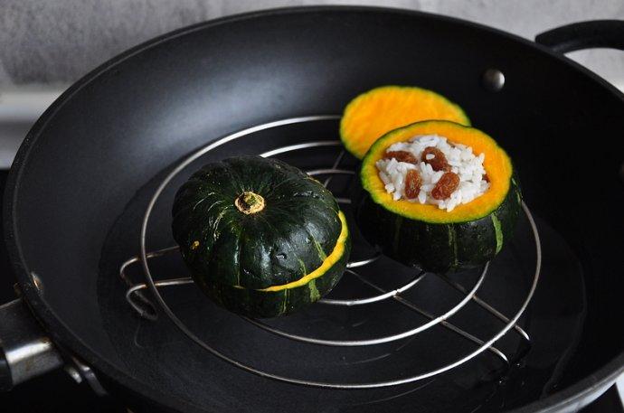 香甜软糯的南瓜蒸饭