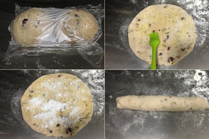 核桃蔓越莓椰蓉手撕面包