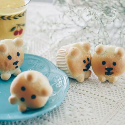 蜜红豆小熊杯子面包