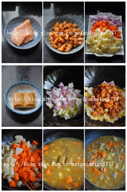 咖喱鸡饭——————孩子的最爱,考生能量餐之八