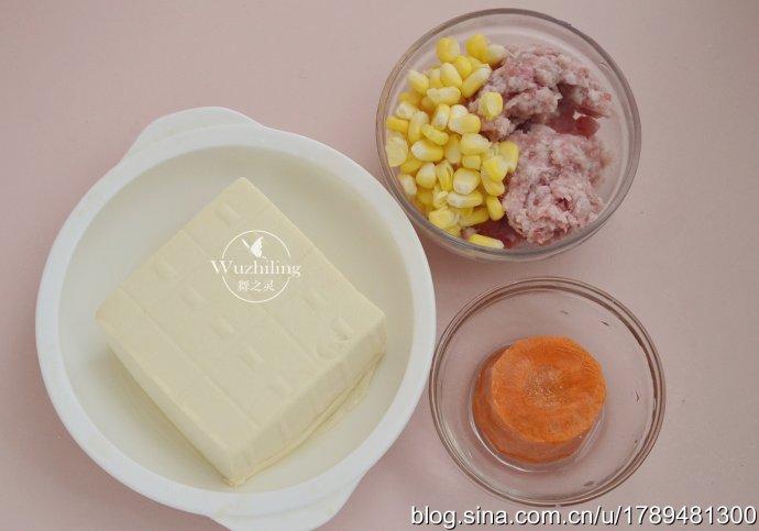 【玉米豆腐蒸丸子】清热补钙,蒸一蒸更健康,老少皆宜