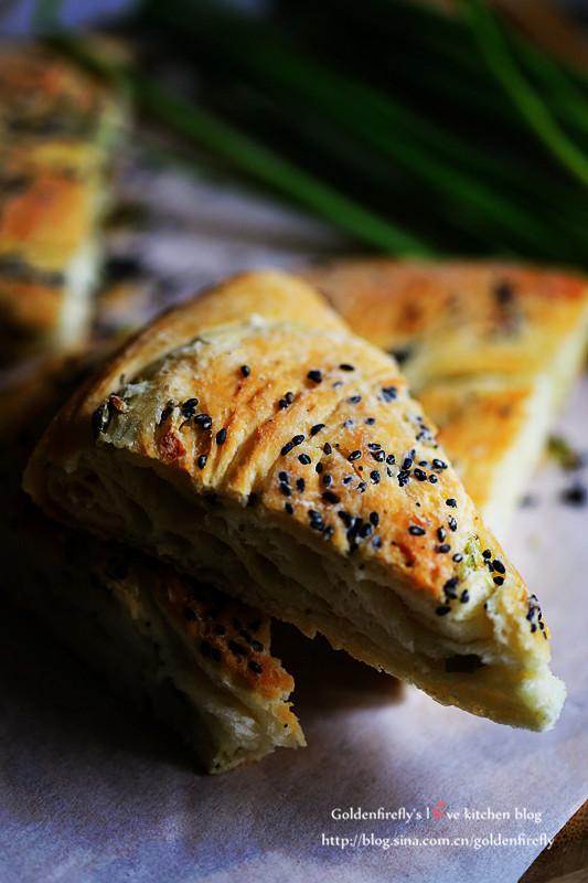 烤箱版香酥软弹葱花大饼