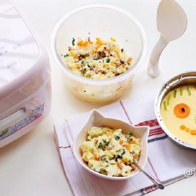 假日宝宝餐-菜饭鸡蛋羹蔬菜粥