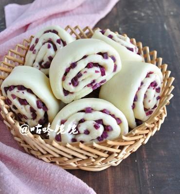 【紫薯卷子】:好看好吃又營養的饅頭