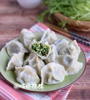 【苦菊素水饺】:适合夏天吃的水饺