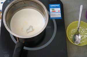 夏天消暑的牛奶椰丝小方