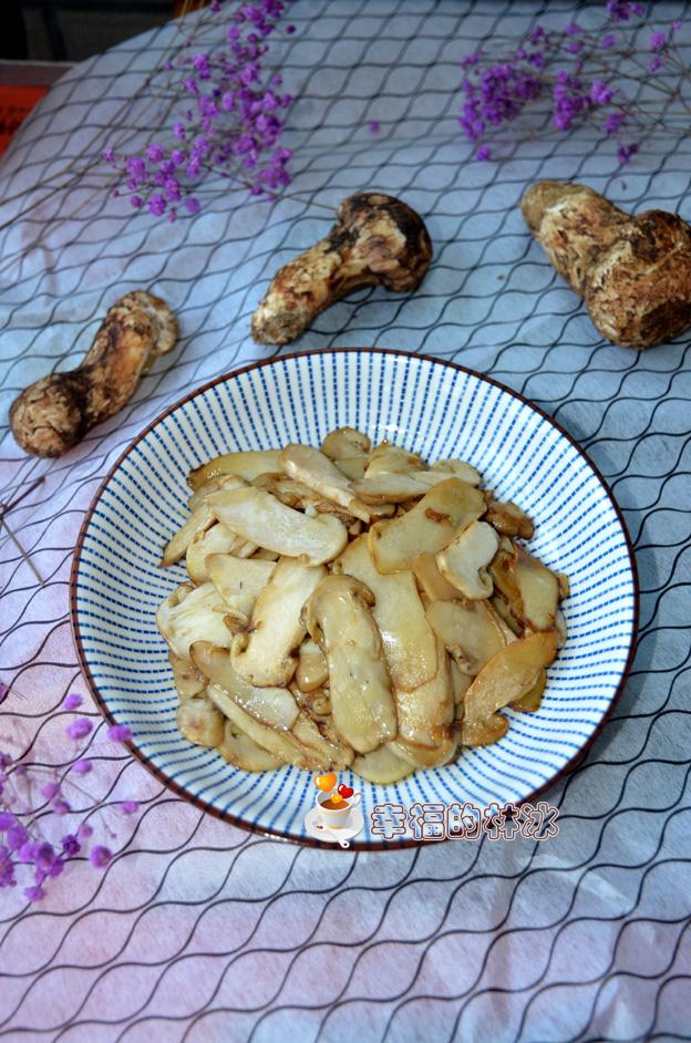 简单炒炒就能出来鲜滋味的素炒松茸